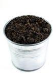 Soil in bucket Stock Photography