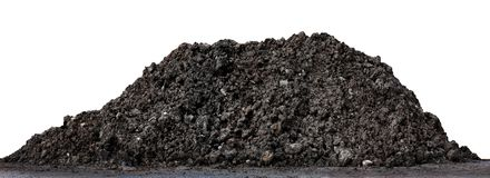 Free Soil Clay Mountain Pile, Soil Heap Land For Construction Home Or Road Way Building, Wet Soil Dirt Mound Brown Black Large Pile Royalty Free Stock Image - 134839556