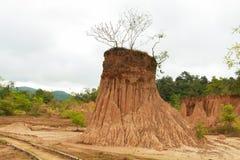 Soil cliff ,Nan,Thailand Royalty Free Stock Photos