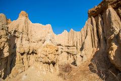 Soil column.Si Nan National Park.Nan north of  Thailand. Stock Images