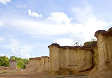 Soil columns in national park Stock Photography