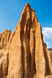 Spire carved away by erosion in Thailand Royalty Free Stock Photos