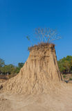 The soil columns of Sao Din Na Noi Stock Photos