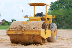 Soil compaction machine Royalty Free Stock Image