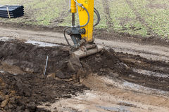 Soil compactor construction Royalty Free Stock Photo