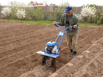 Soil cultivation Royalty Free Stock Photography