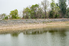 Soil dam. Image of Soil dam background Stock Photo