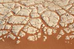 Soil detail of a dry pan, Sossusvlei, Namib desert Stock Images