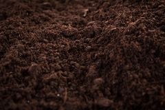 Soil or dirt. Brown soil or dirt section background stock image