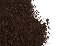 Soil or dirt crop isolated on white Royalty Free Stock Photo