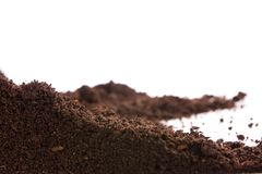 Soil or dirt isolated on white background Royalty Free Stock Images