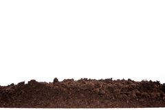Soil or dirt section isolated on white background Stock Photography