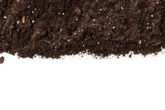 Soil or dirt section. On white background Royalty Free Stock Images