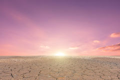 Soil drought cracked landscape Royalty Free Stock Photography