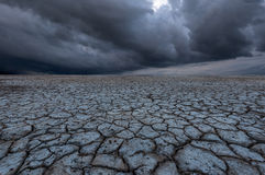 Soil drought cracked Royalty Free Stock Photo