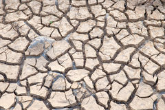 Soil drought cracked Royalty Free Stock Photography