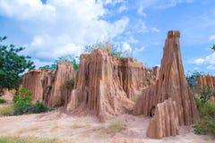 Soil erosion. erosion of soil. LALU in Thailand. Royalty Free Stock Photos