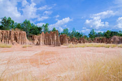 Soil erosion. erosion of soil. LALU in Thailand. Stock Photography