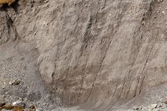 Soil erosion with brown soils stock photography