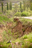 Soil erosion in Ukraine Royalty Free Stock Photos