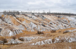 Soil erosion in Ukraine - winter version Stock Image