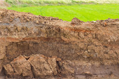 Soil erosion by water. Stock Photography