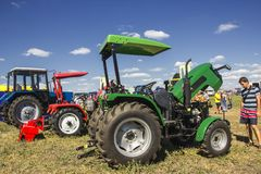 Of soil farming mechanisation. Royalty Free Stock Photo