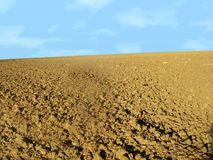 Soil field. Ready to be planted backgrouind Stock Images