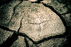 The soil in the fissures Stock Photo