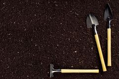 Soil and garden tool Royalty Free Stock Photography