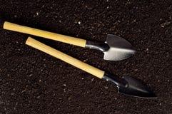 Soil and garden tool Stock Photo