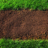 Soil and grass background Stock Photography