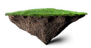 Soil and grass island Royalty Free Stock Photography