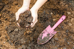 Soil- handful Stock Photos