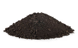 Soil isolated Royalty Free Stock Photo