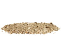 Soil isolated on white Royalty Free Stock Image