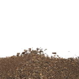Soil isolated on white Royalty Free Stock Photography