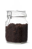 Soil In A Jar Royalty Free Stock Photos
