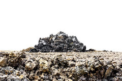 Soil of land with pile of soil on white background Royalty Free Stock Photo