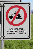 Soil and Land Protection Signage Royalty Free Stock Images