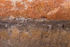 Soil layers in underground earth of science Royalty Free Stock Images