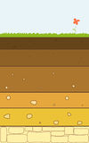 Soil layers vector Stock Images