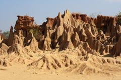 Soil pillar, Sao Din Na Noi in Nan province, Thailand Stock Photo