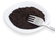 Soil on plate Stock Images
