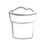 Soil in pot icon image Royalty Free Stock Images
