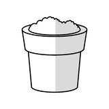 Soil in pot icon image Stock Images
