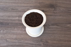 Soil in a pot Royalty Free Stock Photography
