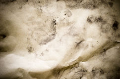 Soil powder on Recycle Wrinkled paper texture,eco Stock Photography