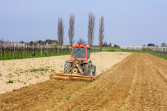 Soil preparation Stock Photo