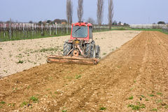 Soil preparation Royalty Free Stock Image